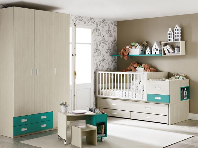 Mini 21 Cuna Convertible Bi-cama Muebles Ros 2014