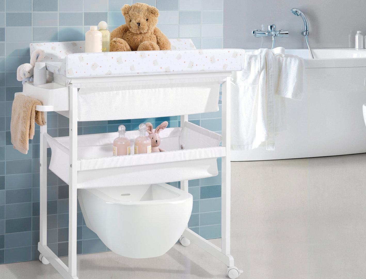 Tapa de cambiador para ba era cestos plus osos corazones - Banera ninos para ducha ...
