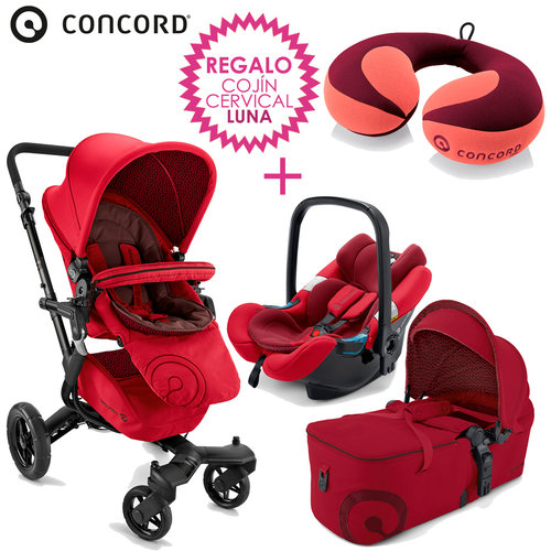 Concord NEO Mobility-Set Ruby Red + REGALO Cojín Cervical LUNA