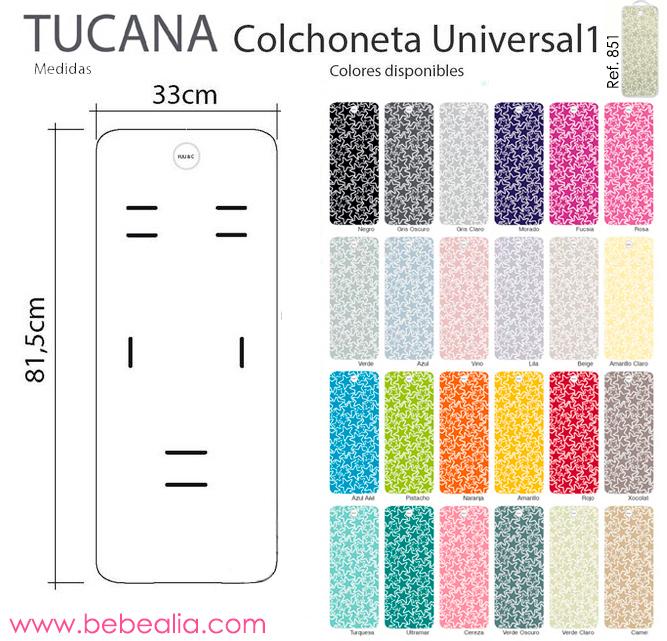 Colchoneta tucana universal 1 - Colchonetas para sillas de paseo originales ...