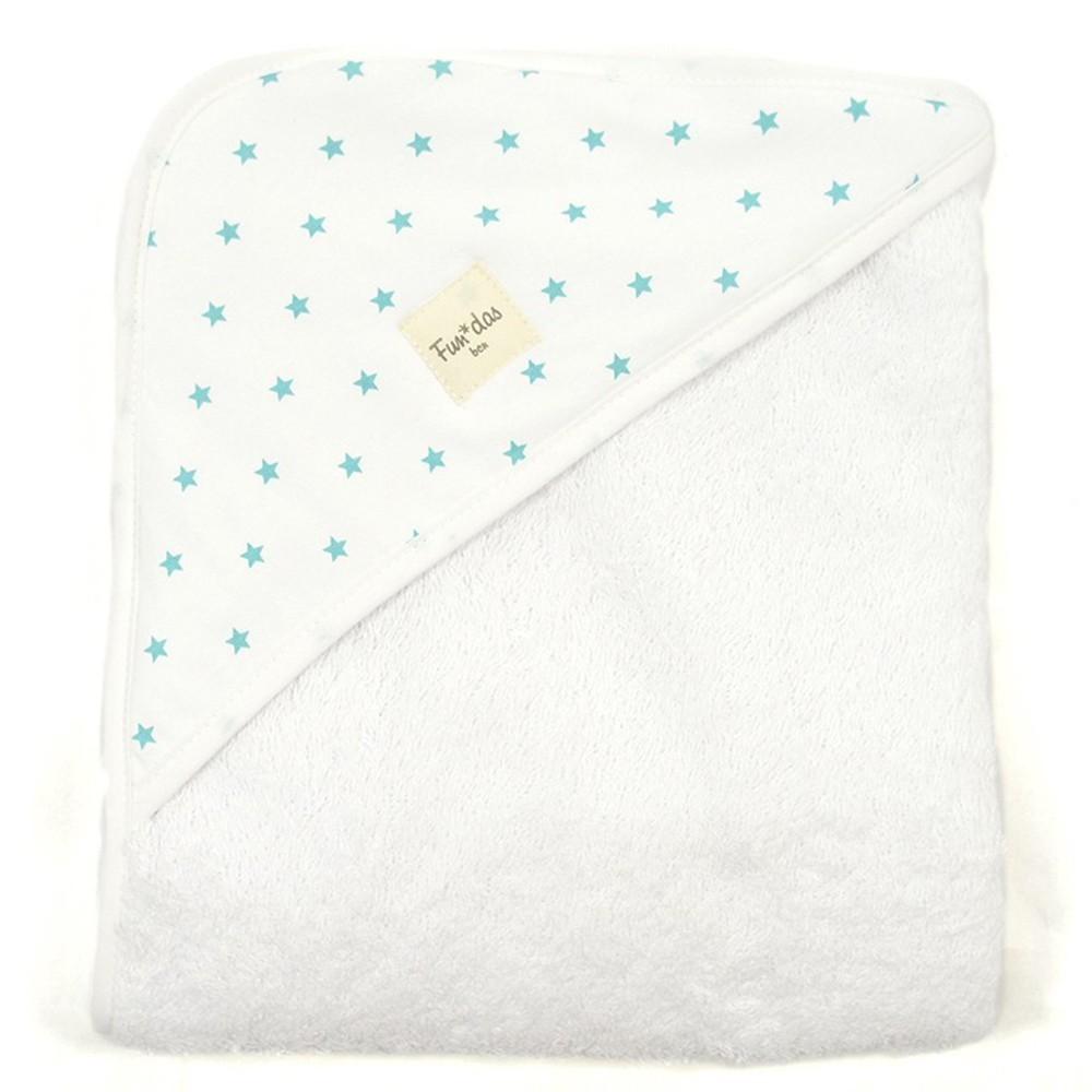Medidas Toalla Baño Bebe:Toalla de baño bebé 80*80cm Tropical Starfish Fundas Bcn