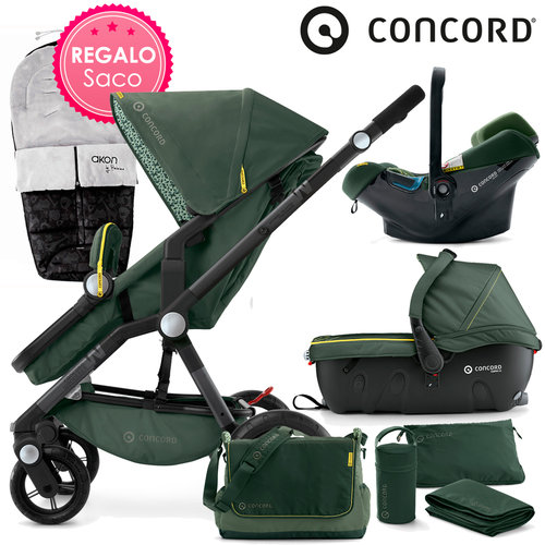 Concord WANDERER Travel-Set Jungle Green 2016 + REGALO Saco