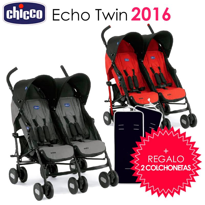 Silla de paseo echo twin de chicco 2016 regalo 2 colchonetas - Silla de paseo chicco echo ...
