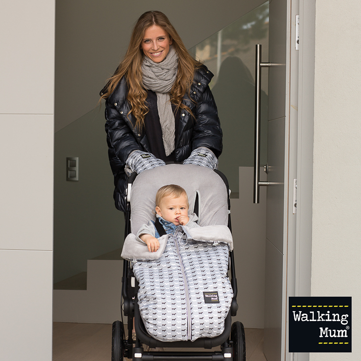 Walking mum saco para silla de paseo universal walkie gris - Sacos silla bebe invierno ...