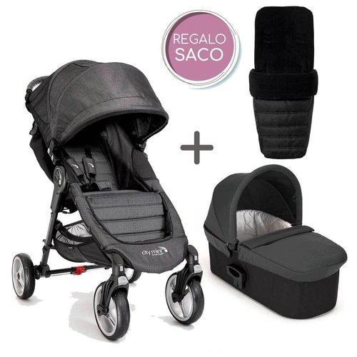 Duo Baby Jogger CITY MINI 4 Denim + REGALO Saco