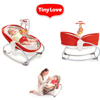 Hamaca-Cuco 3 en 1 Rocker-Napper Red de Tiny Love