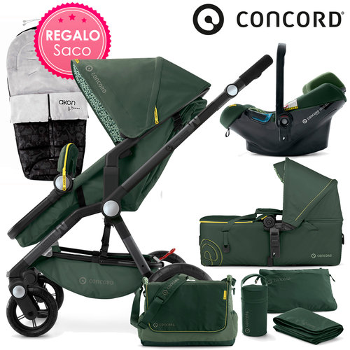Concord WANDERER Mobility-Set Jungle Green 2016 + REGALO Saco