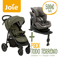 Pack Todo Terreno Joie Litetrax 4 + Stages Isofix