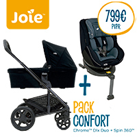 Pack Confort Joie Dúo CHROME Dlx + Spin 360