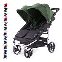 Silla Gemelar EASY TWIN 3S Baby Monsters Chasis Silver