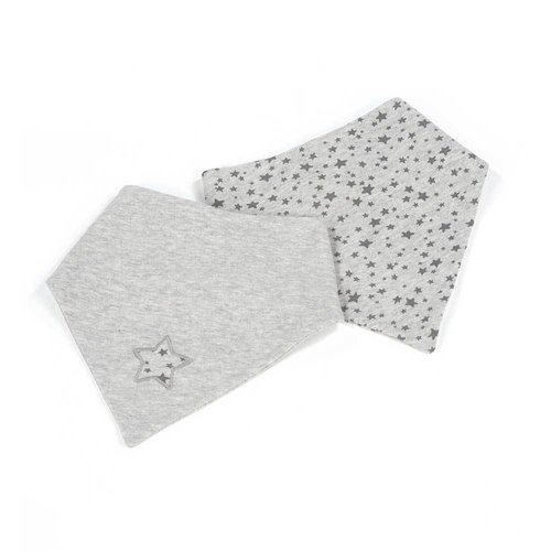 Walking Mum Set de 2 Bandanas Stars Be Grises 436046