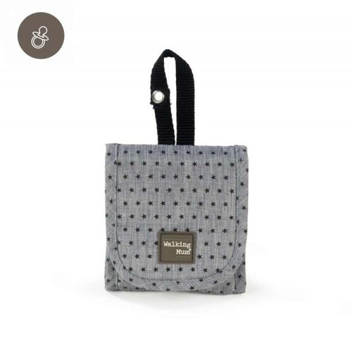 Walking Mum Funda Chupete Gris THEO 35967