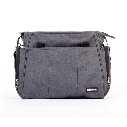 Bolso Cambiador Gris Baby Monsters