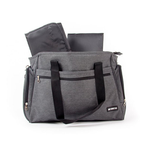 Bolso Cambiador Gris Easy Twin Baby Monsters